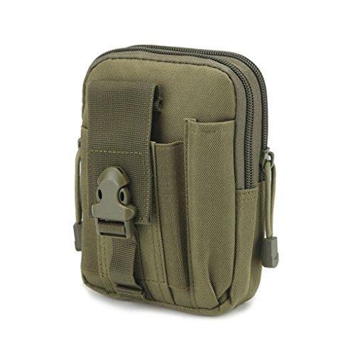 KOROWA Sacchetto di cintura tattica all'aperto da tappeto Borsa da viaggio per escursionismo esercito verde