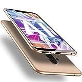 X-level Huawei Mate 20 Lite Hülle, [Guardian Serie] Soft Flex Silikon Premium TPU Echtes Telefongefühl Handyhülle Schutzhülle für Huawei Mate 20 Lite Case Cover - Gold