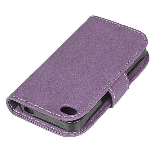 iPhone 4 / 4s Hülle, Cozy hut TPU Silikon Hybrid Handy Hülle Matte Series Case Durchsichtig Stoßfest Tasche Schutz Scratch-Resistant de protection Case Tasche Etui Shell für iPhone 4 / 4s Schutzhülle  Lila scheuert