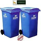 HOMEGENIC Nilkamal Wastebin, 240L - Set of 2 (Green or Blue)