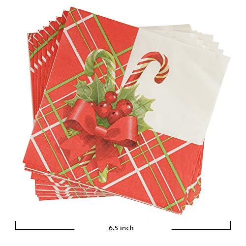 Vajilla Completa de 141 Piezas para Celebración de Navidad–Platos Desechables de Cartón-Vasos, Cuchara, Tenedor, Cuchillo, Servilletas y Mantel–Decoración Navideña de Mesa–Articulo,Apoyo de Temporada