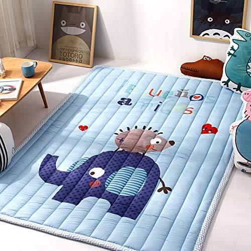 YACAOS Buntes Baby-starker Baby-Teppich-Rutschfester Teppich Tatami-Schlafzimmer-Kinderschlafzimmer-Decke Großer Teppich 145X195cm 57X76In 12 -