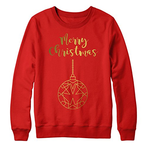 en Mutterschaft Pullover Pullover Baggy Fröhliche Weihnachten Flitter ()
