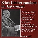 Weber/Mozart : Symphony No. 1/No.39/Deutsche Tänze. Kleiber, Kölner RSO.