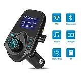 Bluetooth FM Übermittler Drahtloser Musik-Spieler Mit Doppel-USB-Häfen Und 3.5Mm Audio-Hafen-Unterstützungshände Freies Anrufendes Anzeigen-Autobatterie-Spannung Unterstützung MP3-Musik Auf Der TF-Karte Und USB-Auto-Ladegerät-Handy