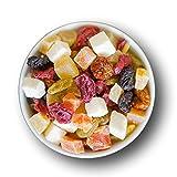 Hausgemacht Fruchtmischung - fein  kandiert  Rohkost-Qualität und ideal für Sportler PREMIUM QUALITÄT by 1001Frucht Made in Regensburg. - 500 GR