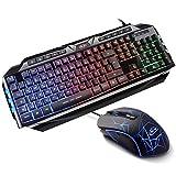 Gaming Tastatur Maus Set GK710 Rainbow LED Hintergrundbeleuchtete Tastatur und Maus Combo Set für Xbox One USB PS4