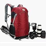 'Caseman aob1 Étui appareil photo reflex numérique Sac à dos imperméable pour Nikon Housse de pluie rouge