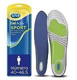 Scholl - Plantillas gel activ uso diario hombre, para zapatillas deportivas, talla 40 - 46.5, 1 par (2 plantillas)