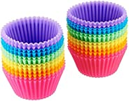 AmazonBasics Silicone Baking Cup Set, 24-Pieces, Multicolor