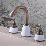 QMPZG-robinet d'eau chaude et froide trois de style européen de l'ancien mur dans la baignoire de robinet, accessoires de plomberie robinet