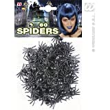 60 arañas plásticas Halloween - Única