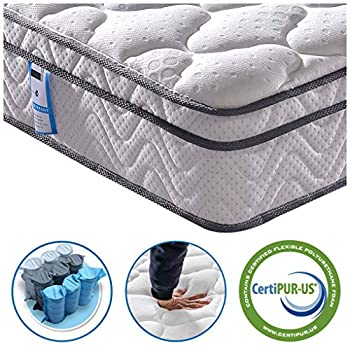 Vesgantti 5FT King Size Mattress, 10.3 Inch Pocket Sprung Mattress King with Breathable Foam and Individually Wrapped Spring - Medium Firm Feel, Classic Box Top Collection