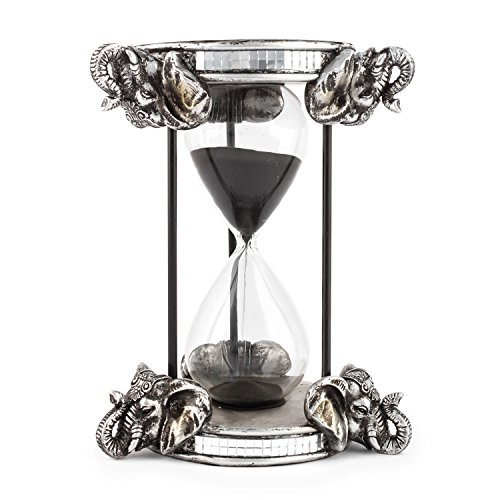 Pajoma Reloj de Arena Safari I de Resina & Cristal, H 22cm