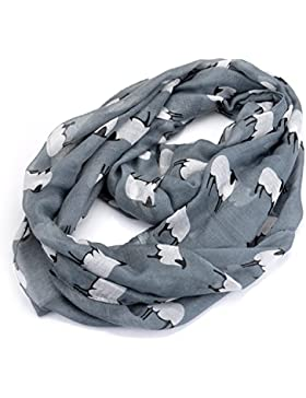 lureme®animal ovejas gasa bufanda infinito ligera(01003495) (gris)