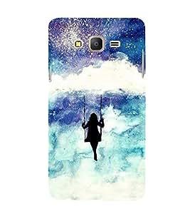 FUSON Girl Swinging On Cloud 3D Hard Polycarbonate Designer Back Case Cover for Samsung Galaxy On5 (2015) :: Samsung Galaxy On 5 G500Fy (2015)