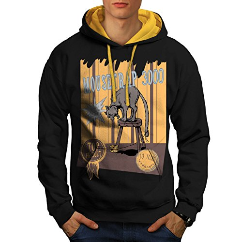 mouse-trap-cat-bait-cheese-lure-men-new-black-gold-hood-m-contrast-hoodie-wellcoda