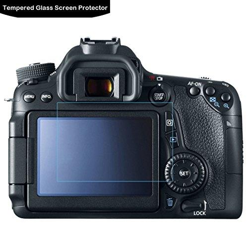 Canon EOS 80d 70d protecteur d'écran–Lokeke LCD Film protecteur pour Canon EOS 80d/70d, 0,3mm, 9H, fabriqué à partir de verre véritable avec Garantie à Vie