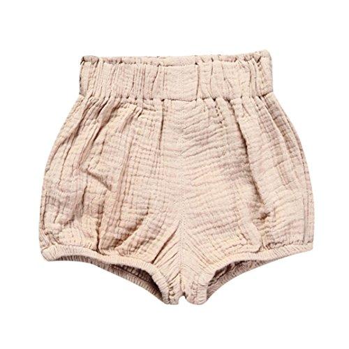 JERFER Säugling Kleinkind Kinder Unterwäsche Nettes Baby Mädchen Jungen Dot Geometrische Shorts Hosen Leggings 6M-5T (Cremefarbig, 12M)