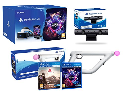 PlayStation VR 'Farpoint Pack' + AimController + VR Worlds + Camara V2