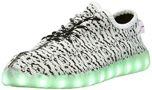 IPretty Sportschuhe mit Leucht LEDs Unisex Sneakers 7 Farbe Farbe Farbe Blinken USB Laden Laufschuhe Outdoorschuhe für Damen und Herren Weiß  [B01H772CUE] 7b2f56