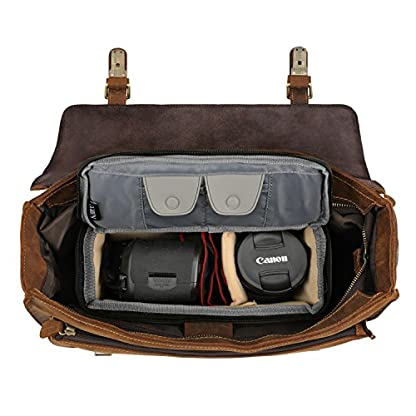 Kattee DSLR Insert Camera Case Inner Lens Bag Top Zipper Closure Waterproof Shockproof Travel Protective Bag