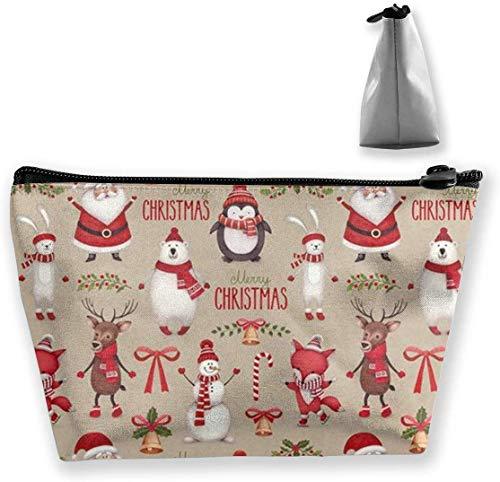Christmas Makeup Bag Large Toiletry Bag Travel Makeup Bags with Zippered -