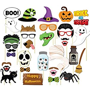 Decorazioni di Halloween 35 Pz / Set Divertente Fai da Te Foto di Photo Booth Prop Felice Halloween