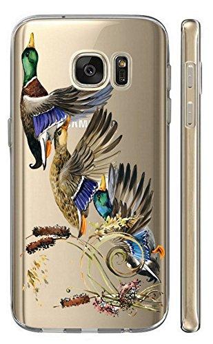 KunaMobile Hülle für Samsung Galaxy A7 2018 TPU Handyhülle Samsung A7 2018 Silikon Hülle Softcase Cover Schutzhülle Motiv (2750 Enten)