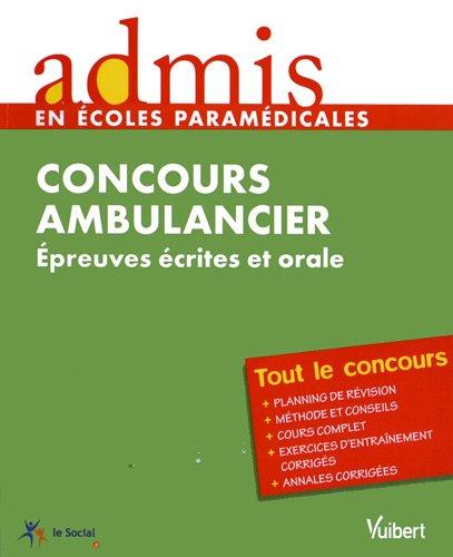 Concours ambulancier : Epreuves écrites et orale