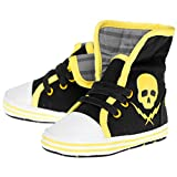 Sourpuss–Zapatos para bebé Calavera–Skull And Bolt Sneakers 0–6, 6–12, 12–18, 18–24Meses negro Talla:18 - 24 Monate