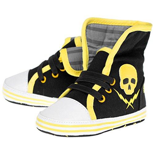 Sourpuss–Zapatos para bebé Calavera–Skull And Bolt...