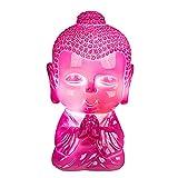 Kleine LED Leuchte Baby-Buddha in den Farben Blau, Grün und Pink, 8 LED, mit USB Kabel. Anschluss z. B. an PC. Ideal als Schreibtischleuchte, vor allem im Kinderzimmer. Maße:13,5 x 8 x 8 cm. Polyresin, Farbe:pink