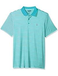 aa2117d0 Izod mens45SG474Short Sleeve Textured Stripe Traditional Golf Polo Short  Sleeve Polo Shirt