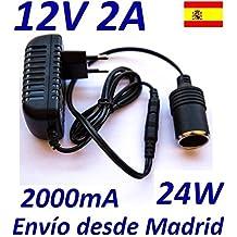 Cargador Corriente 12V 2A 2000mA 24W con salida para encendedor tipo mechero de coche