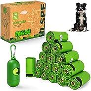 BLSPE Dog Poop Bags Pet Dog Supplies 240 Bag 16 Rolls With Dispenser and Waste Dog Poop Bag Leash Clip for Dog