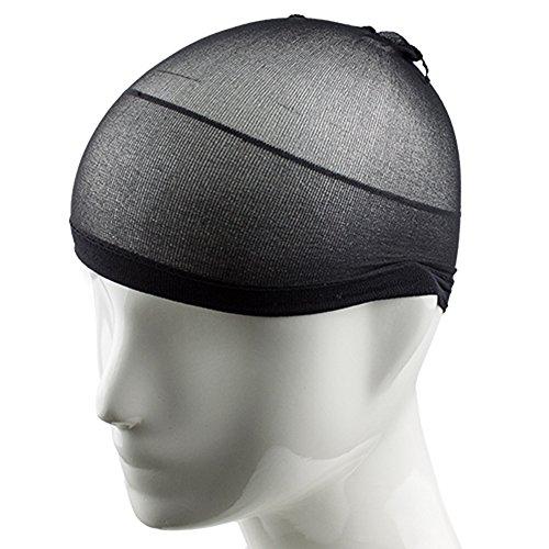 gemini-mall-unisexe-en-nylon-maille-stretch-noir-bonnet-de-perruque-cheveux-cap