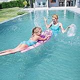 FXQIN Tavola da Surf per Bambini Riga di galleggiamento Gonfiabile, Giocattoli di galleggiamento dell'Acqua del Bordo dell'Acqua del Gioco della zattera del Galleggiante del raggruppamento,Pink