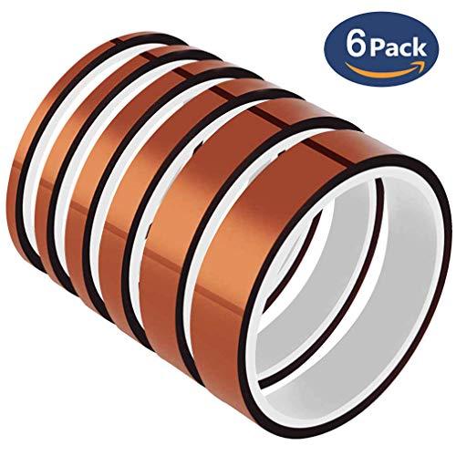 mperatur-Bänder - YTBUBOR Polyimid-Film-Klebeband, Mehrbreite 0,4/0,6/0,8/1/1,2/2 cm, gut geeignet für Masken, Löten, Pulverbeschichtung, Bedrucken von PCB Board und Verpackung. ()