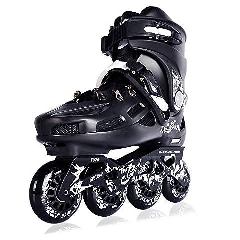 Crayom Sicherheit Keine Angst Erwachsene eine Reihe von professionellen fancy Rollschuhen Männer und Frauen High-End flache Schuhe Schlittschuhe Inline-Skate-Schuhe Kinder voller Satz von Schlittschuhen ( Color : Full flash , Size : 37 )