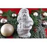 Der Nikolaus kommt. Beton, Steinguss Figur NIKOLAUS weiß patiniert. als Geschenk verpackt!