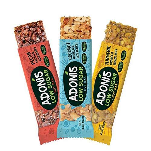 Adonis Low Sugar Snack Nuss Riegel - Gemischte Box | 100{3ed08386fe9370f4b6fd1d642eef1c316c85fa76b175986ebdbb3ab69e534b3d} Natural, Low Carb, Glutenfrei, Vegan, Keto, Paleo (5)