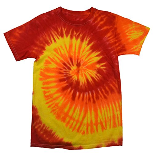 Colortone - Unisex Batik T-Shirt 'Rainbow' / Blaze, L