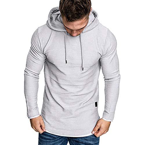 Zolimx tumblr maglia a maniche lunghe da uomo, t-shirt manica lunga con cappuccio e maniche lunghe da uomo autunno e inverno felpa con cappuccio e patchwork hooded sweatshirt
