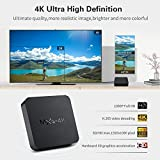 TSV MXQ 4k Ultra HD Android 7.1 Smart Android TV Box with VP9 HDR10, LAN 100M, WiFi 2.4G EMMC Design CPU 4 Core Smart Android TV Box