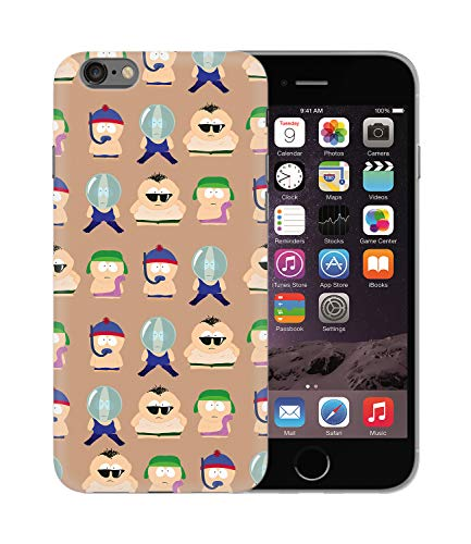 Park Mobile (South Park Characters Summer Vibes_BEN1068 Protective Phone Mobile Smartphone Case Handyhülle Hülle Cover Hard Plastic for iPhone 6 6S Plus Funny Gift Christmas)
