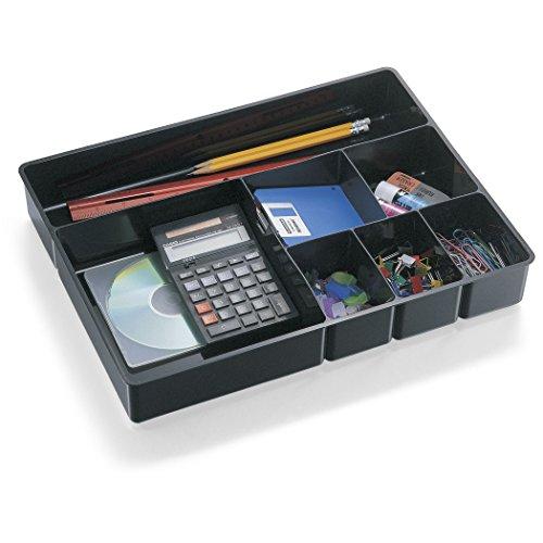 Officemate Schreibtisch-Schublade, 21322, 7 Fächer, schwarz.