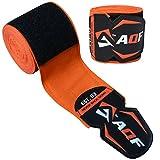 Bande de maintien sous gants de boxe AQF 4,5m MMA Muay Thai - Extensible, Orange