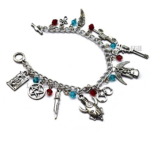 supernatural-charm-bracelet-for-sale-chevy-impala-revolver-castiels-wings-devil-trap-and-supernatura