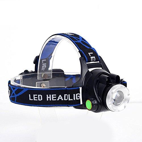 Etbotu Zoomable 3 Modi Scheinwerfer USB wiederaufladbare wasserdichte Kopflampe leistungsstarke XML T6 LED Scheinwerfer für Fahrrad Camping Wandern Licht